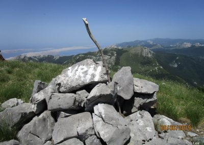 065 VELEBIT, na vrhu Konjevaće 1381m, 11.56