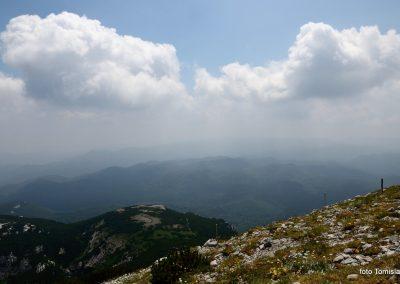 16 VZPON NA SNEŽNIK; razgled z vrha